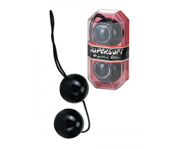 Super Soft Orgasm Balls - Knipkulor / Analkulor - Svart