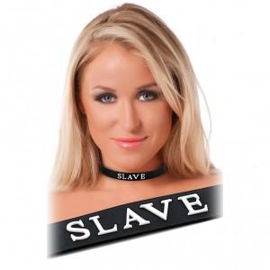 "Halsband Med Text - ""SLAVE"""