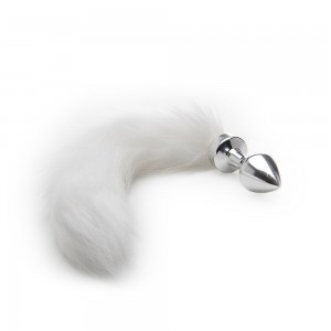Ouch White Tail Buttplug - Silver