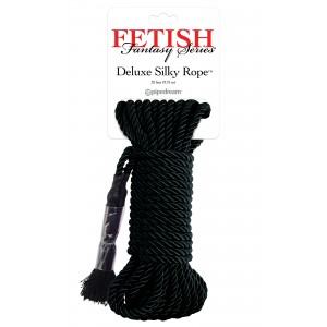 Deluxe Silky Rope - Bondage Rep 9,75 m - Svart