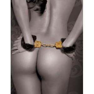 Gold Delux Furry Cuffs - Handbojor