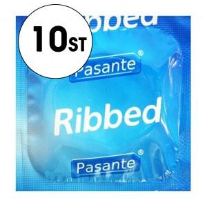Pasante Kondom - Ribbed - 10-Pack