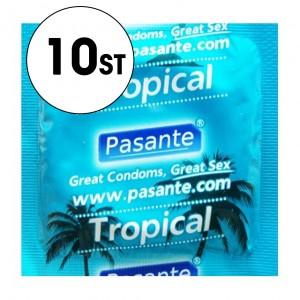 Pasante Kondom - Tropical/Fruktsmak - 10-Pack