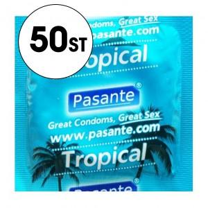 Pasante Kondom - Tropical/Fruktsmak - 50-Pack