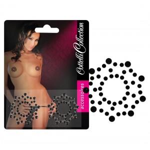 Nipple Stickers Med Stjärnor i Strass