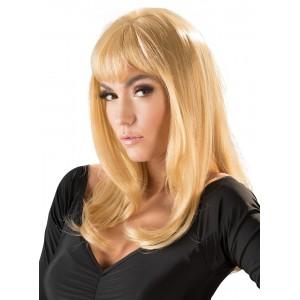 Wigged Love - Peruk Med Blont Långt Hår - Rakt