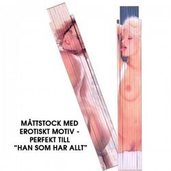 Måttstock / Tumstock Med Erotiskt Motiv