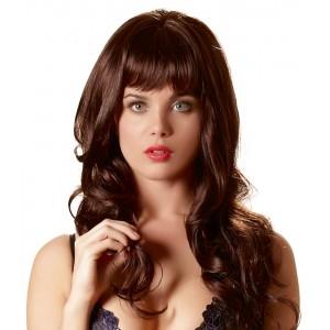 Wigged Love - Peruk Med Mörkbrunt Långt Hår - Vågigt