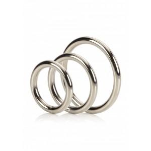 Metal Silver Rings - Set Med 3st Pung & Penisringar!