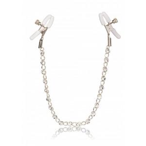 Crystal Chain Nipple Clamps - Bröstsmycke Med Stenar