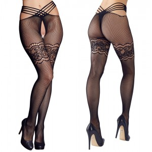 Stockings Fishnet Lace Hip-Strap