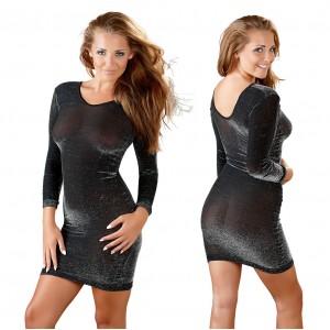 Glitterklänning Svagt Genomskinlig - Medium/Large