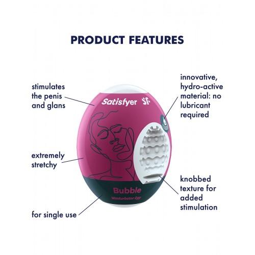 Satisfyer Masturbator Egg - Bubble