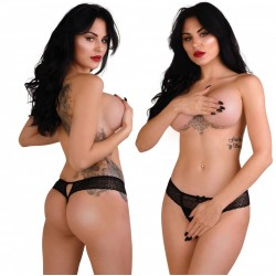 Roxanne Crotchless String - S/M
