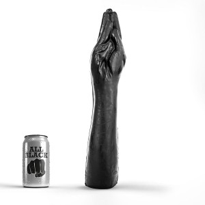 All Black - Fisting Hand Med Arm - XXXL Leksak