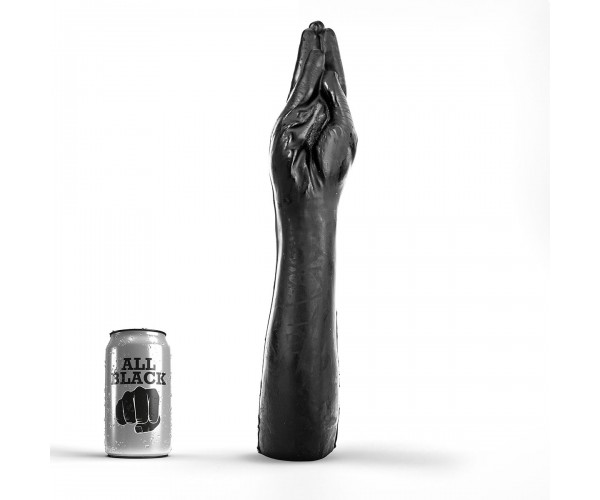 All Black - Fisting Hand Med Arm - XXXL Leksak