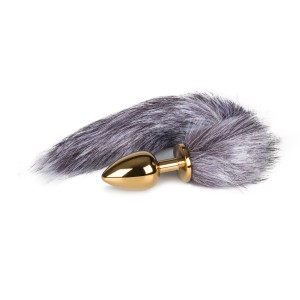 Fox Tail Golden Plug Large - Svans För Kinky Lekar