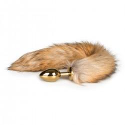 Fox Tail Golden Plug Medium - Svans För Kinky Lekar