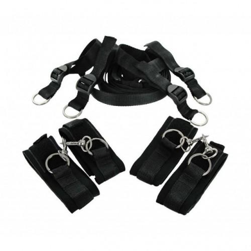 Bed Bondage Furry Cuffs Kit - Extra Mjuka Bojor