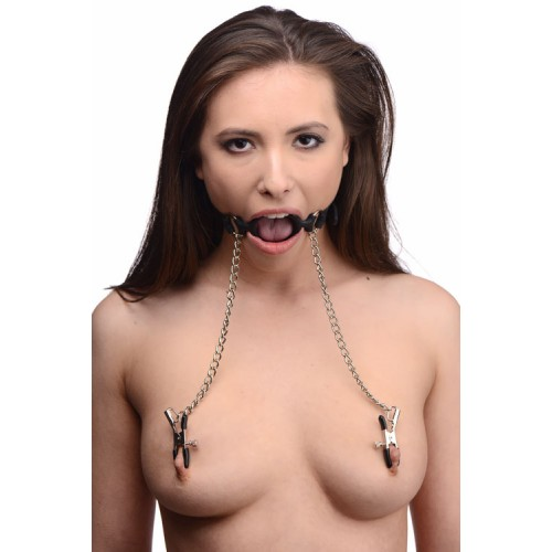 Bondage Open Mouth & Nipple Clamps