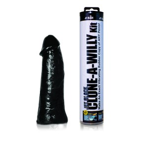 Clone-A-Willy - Jet Black - Med Vibrator