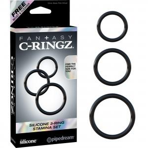 Fantasy C-Rings - 3-Pack Pensringar I Silikon